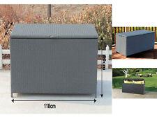 Rotin coin stockage poitrine coffre boîte canapé mobilier de jardin de terrasse en acier