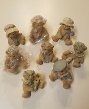 Cherished Teddies Lot of 8 Certificates Assorted Figurines Collections 1996-2001
