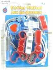 Toy Medical Kit Pretend Play Stethoscope Scissors Syringe Reflex Hammer 6pc