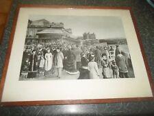 Delightful Nostalgic Framed Print SCARBOROUGH SPA IN EDWARDIAN TIMES Unsigned