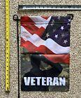 """Veterans Garden Flag FREE SHIPPING Camo Salute Desantis Trump USA Sign 12x18"""""""