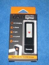 Fireware USB Electric Cigarette Lighter, Silver/Black, New!