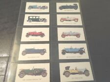 1966 VINTAGE CARS Rolls-Royce auto  Mobile Oil  automobile Trading set 24 cards