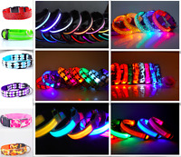 LED Glow Collar Dog Puppy Pet Flashing Light Safety Glow In The Dark FAST POST