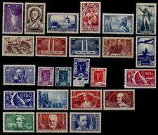 L'ANNÉE 1936 COMPLÈTE, Neufs * = Cote 625 €  / Lot Timbres France 309 à 333