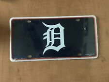 "Detroit Tigers MLB Team Color License Plate Old English ""D"""