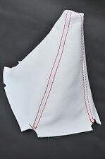 RED STITCH FITS HONDA INTEGRA DC2 1994-2001 WHITE LEATHER SHIFT BOOT