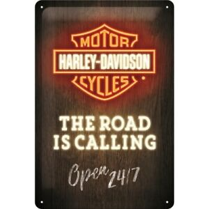 Harley Davidson calling Road Blechschild Schild 3D geprägt Tin Sign 20 x 30 cm