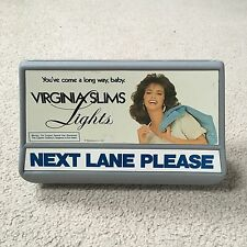 Vintage NEXT LANE PLEASE Grocery Store Sign with Virginia Slims Advertising