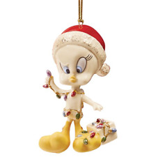 """Lenox """"Tweety All Tangled Up In Lights Ornament"""" New In Box"""