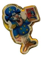 VINTAGE CAPTAIN CAPN' CRUNCH CEREAL Icon Lapel PIN Box Breakfast 80's Food Rare