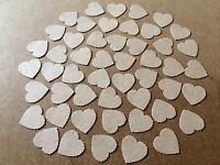 100 kraft brown Scalloped Heart embellishments card making scrapbooking crafts