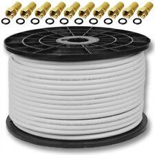 100m Koaxialkabel 4K Sat Koax Kabel 135dB DIGITAL Antennenkabel TV Koaxkabel UHD