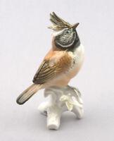 Karl Ens Volkstedt Porcelain Germany, Crested Tit Figurine #7341
