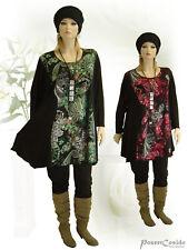 PoCo DeSiGn° LAGENLOOK Long-Shirt Kurz-Kleid Tunika Überwurf ❷Fb L-XL-XXL-XXXL