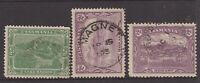 Tasmania postmark group x 3 on pictorials all rated S- (4) by Hardinge