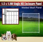 1.5x.1.8M Pet Enclosure Panel Fencing Outdoor Heavy Duty Dog Run Kennel Playpen