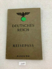 Vintage German passport Reisepass book 1942
