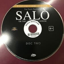 Salo (1975) - SPECIAL FEATURES DISC ex-rental region 4 DVD (NOT THE MOVIE)