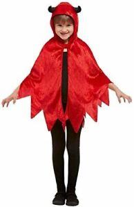 Devil Hooded Cape Halloween Fancy dress