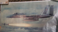 FIGHTER PLANE POSTER F-15 Eagle Firing Sparrow Missile Jet  Military Airplanes