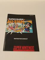 Super Mario All-Stars SNES Instruction Manual Nintendo Booklet Only NO GAME/BOX