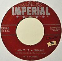 "Fats Domino Ain't It a Shame Original Teen R&B 45 7"" Vinyl Extra 45's Ship Free"