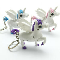 Cute Cartoon Unicorn LED Light Torch Sound Keyring Keychain Keyfob Kids Toy Gift