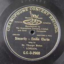 78rpm THORPE BATES sincerity - emilie clarke G.C.-3-2960 SINGLE SIDE