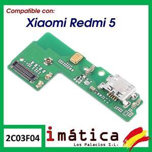 PLACA CARGA XIAOMI REDMI 5 CONECTOR MICRO USB ANTENA MICROFONO INFERIOR CIRCUITO