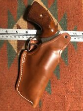 "FITS: Ruger SP101 2 1/4"" 357Mag Tanned Leather Duty Holster Thumb Break"