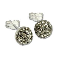 Pendientes de joyería con gemas gris