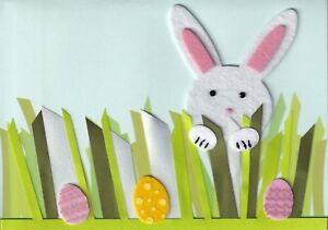 PAPYRUS EASTER CARD NIP (MRP $6.95) BUNNY IN GRASS CARD (O6)