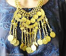 Egyptian Hand made Metal Belly Dance Necklace Gypsy Ethnic Coins Bedouin 101