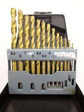 13pc HSS Drill Bits 1.5mm - 6.5mm Metal Wood Plastic Titanium DR101