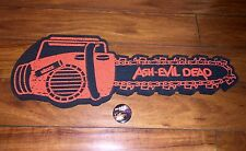 Ash vs Evil Dead Nycc & Sdcc Exclusive Foam Chainsaw & Pin! Groovy! Rare!