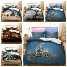Motorcycle Off-road Extreme Sports Doona Quilt Duvet Cover Single Queen Bed Size
