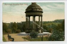 (Ld8044-473)  Fountain in Roundhay Park,  LEEDS, 1910 Used G-VG