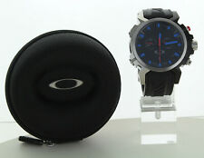 NEW OAKLEY DOUBLE TAP WATCH BLUE EDITION W/ UNOBTAINIUM BAND STAINLESS DOUBLETAP