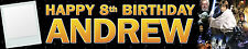 2 X PERSONALISED BIRTHDAY BANNERS STAR WARS WITH PHOTO