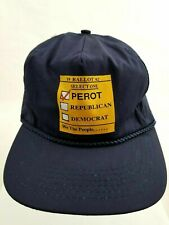 Vtg Ross Perot 1992 Ballot HAT Indepedent Party Presidential Candidate Adjust