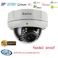Vandal proof 2MP 1080P POE IP Dome Camera IP66 Onvif IR Security CCTV Network