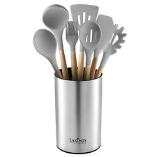 Stainless Steel Kitchen Utensil Holder, Kitchen Caddy, Utensil Organizer, Round