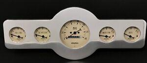 1946 1947 1948 Pontiac 5 Gauge Dash Panel Insert Mechanical Speedometer RM Tan