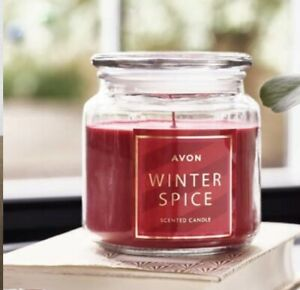 AVON Large Winter Spice Scented Candle Christmas Gift Boxed Festive