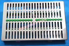 German Dental Autoclave Sterilization Cassette Box Tray For 20 Instrument Green