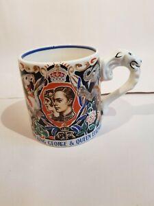 Dame Laura Knight King George  VI and Queen Elizabeth 1937 Commemerative Mug