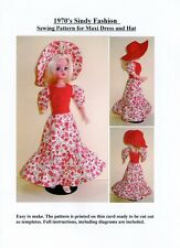 Sindy Sewing Pattern for 1970's Maxi dress and Hat