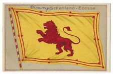 SCOTLAND Lion Rampant Flag, Old Embossed Postcard Unused