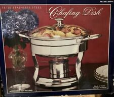 Nib Round Chafing Dish 5 Quart Stainless Steel Full Size Tray Buffet Catering